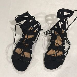 NWOT, Schmitz Erlina Suede Lace up Sandals. 6B